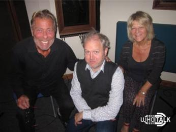 Toby Hadoke with John Levene and Syvlia James for The Web of Fear 6 (Credit: Fantom Films)
