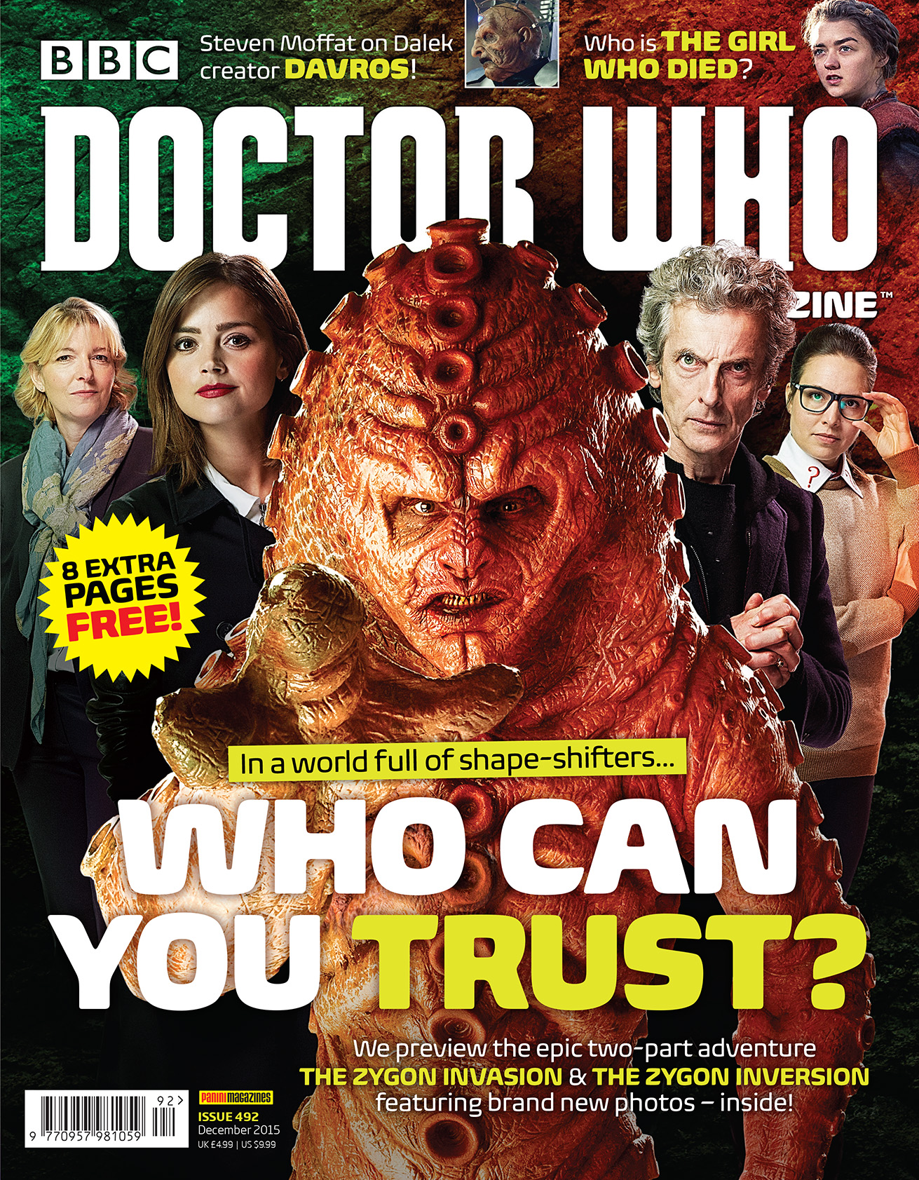Doctor Who Magazine 492 (Credit: Panini )