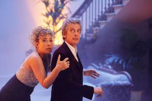 Doctor Who Christmas Special: The Doctor and River, as played by Peter Capaldi and Alex Kingston (Credit: BBC/Simon Ridgway)