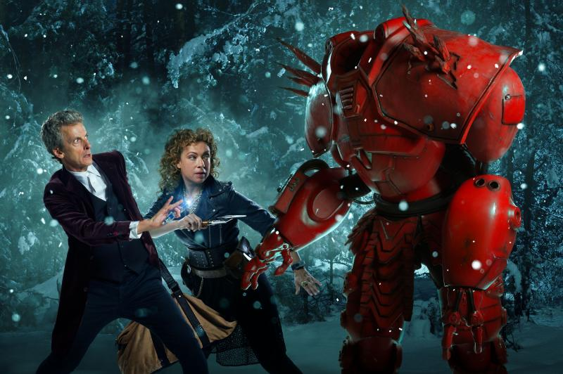 The Husbands of River Song: the Doctor, River and Hydroflax (Credit: BBC/Ray Burmiston/Simon Ridgway)