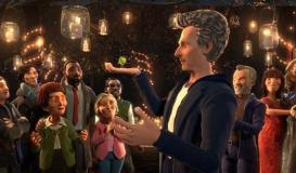 BBC One Christmas Ident: Sprout Boy meets the Doctor (Credit: BBC)