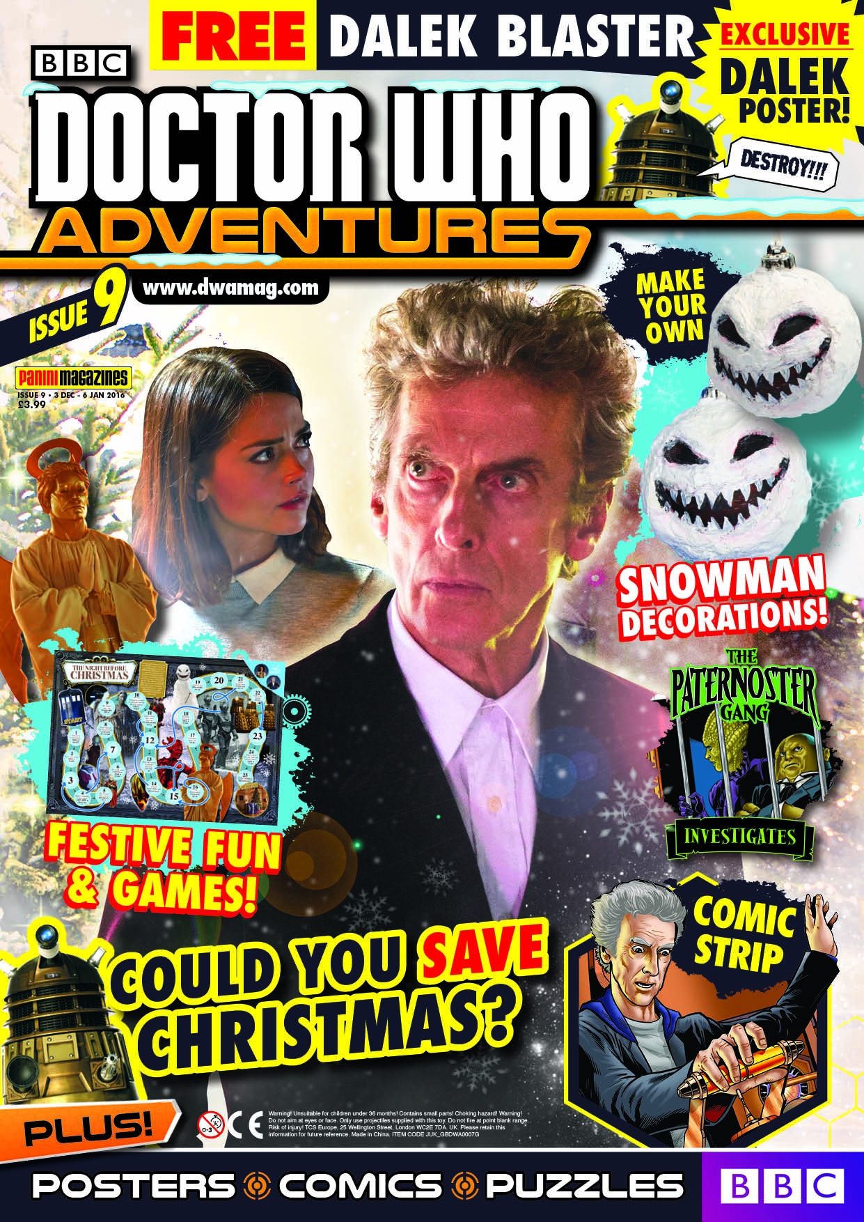 Doctor Who Adventures Issue 9 - Cover (Credit: DWA)