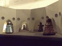 The miniature of the Dalek city on Skaro.