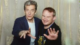 The author with Peter Capaldi. BBC Worldwide sought to personalise the photo opp experience for fans.