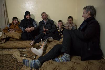 Peter Capaldi meets Syrian Refugees in Jordon (Credit: UNHCR/Jordi Matas)