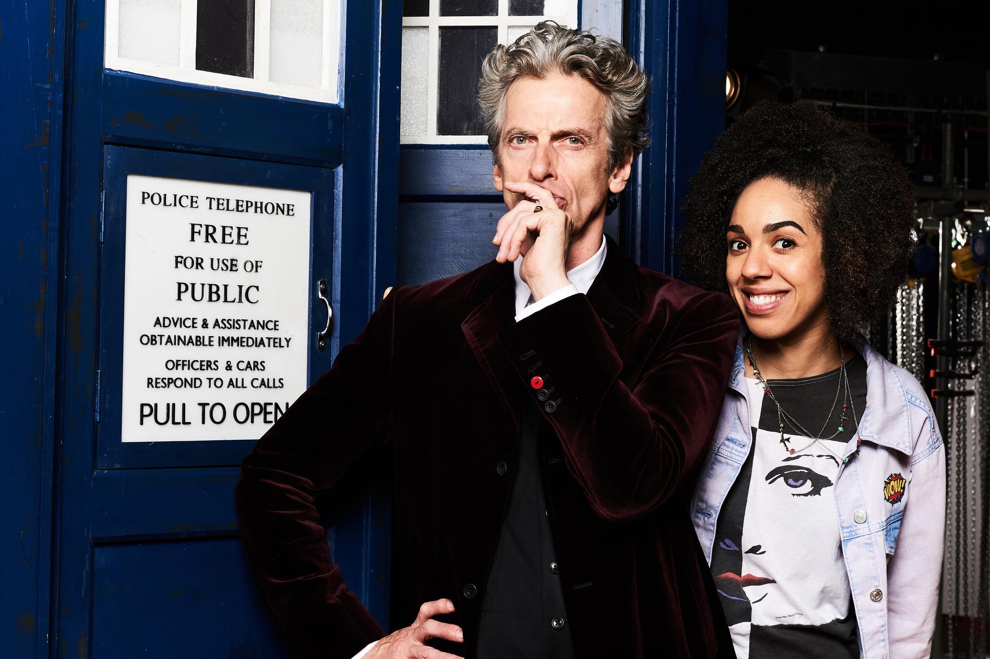Pearl MacKie and Peter Capaldi (Credit: BBC / Ray Burmiston)