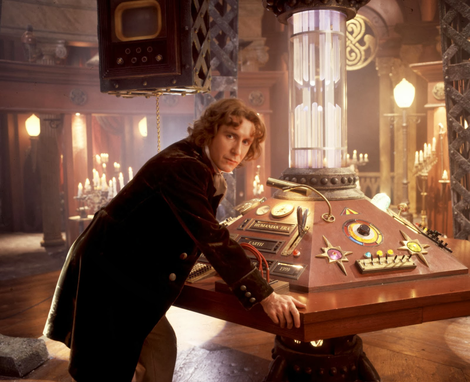 Paul McGann as the Doctor in the TV Movie (Credit: BBC)