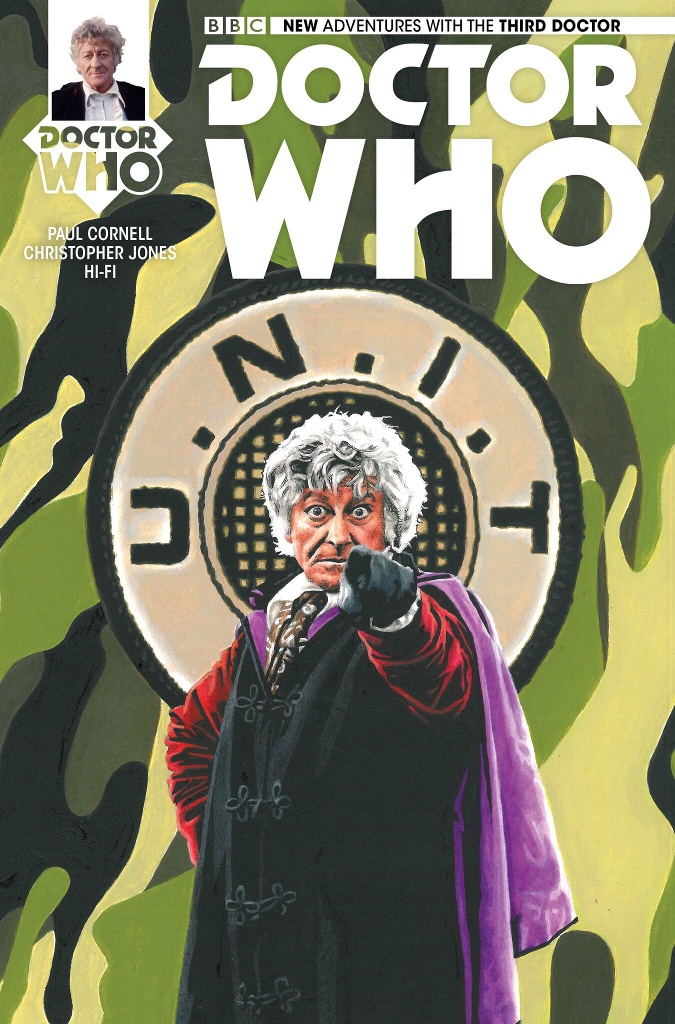 Third Doctor #1 (Titan) Diamond UK variant: Andy Walker