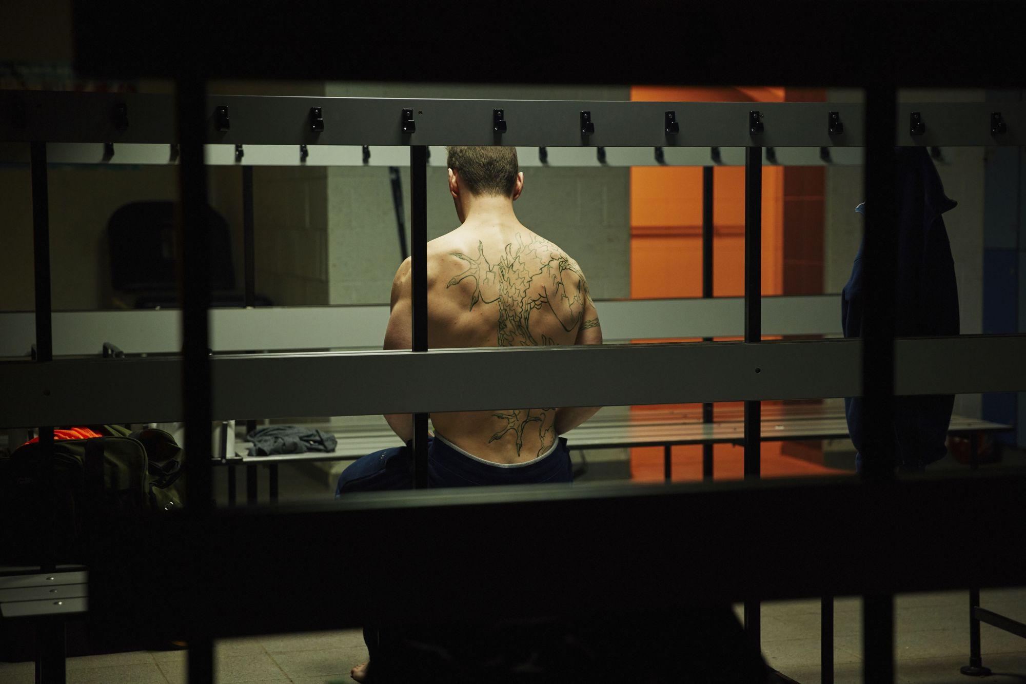 Class - Ep2 - The Coach With The Dragon Tattoo - Coach Dawson (BEN PEEL) (Credit: BBC/Simon Ridgeway)