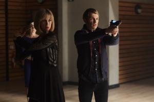 Class - Ep8 - The Lost - Miss Quill (KATHERINE KELLY), Charlie (GREG AUSTIN) (Credit: BBC/Simon Ridgeway)
