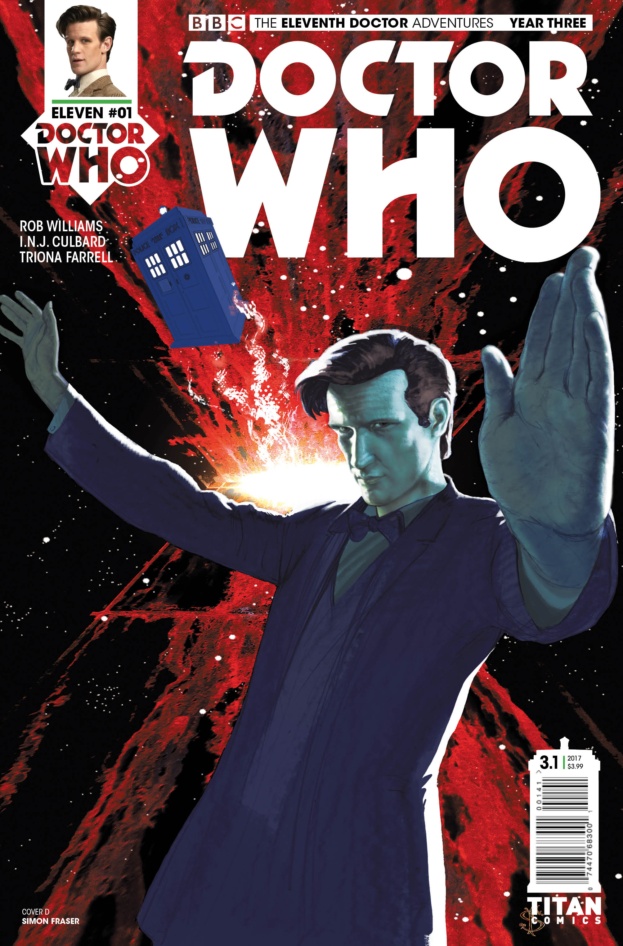 ELEVENTH DOCTOR YEAR THREE #1 Cover_D_Simon_Fraser (Credit: Titan)