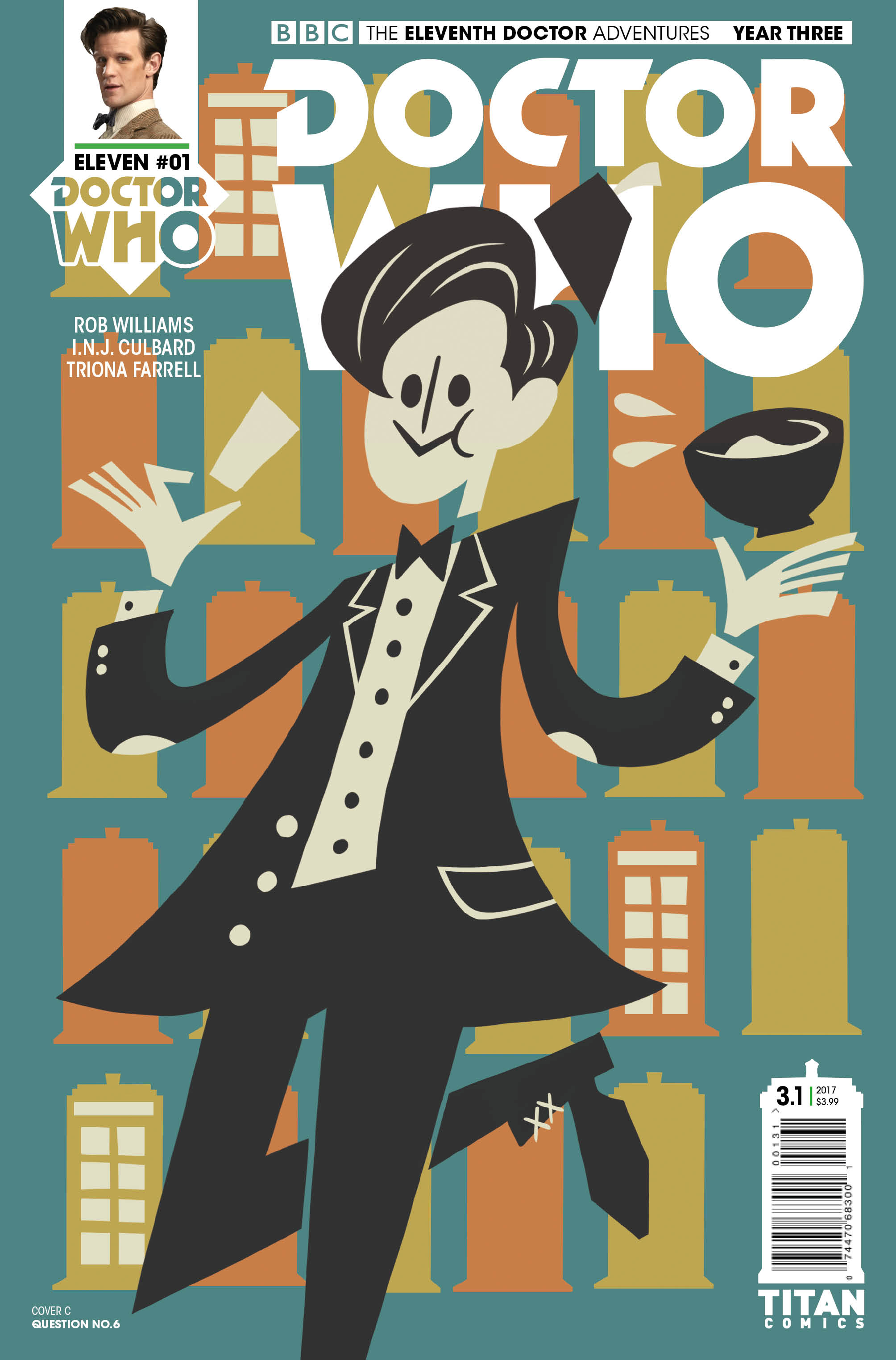 ELEVENTH DOCTOR YEAR THREE #1 Cover_C_Question_No_6 (Credit: Titan)