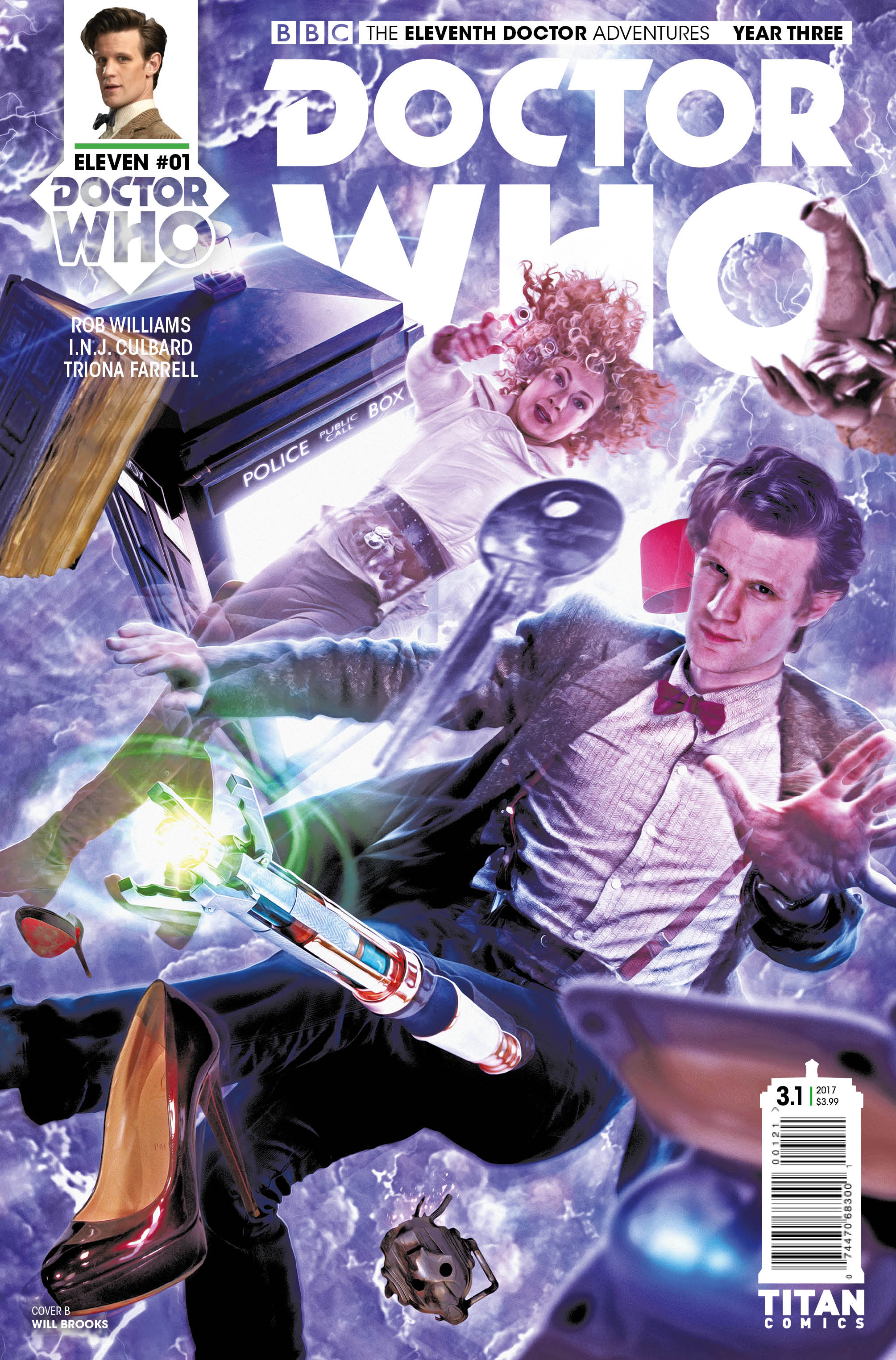 ELEVENTH DOCTOR YEAR THREE #1 Cover_B_Will_Brooks (Credit: Titan)