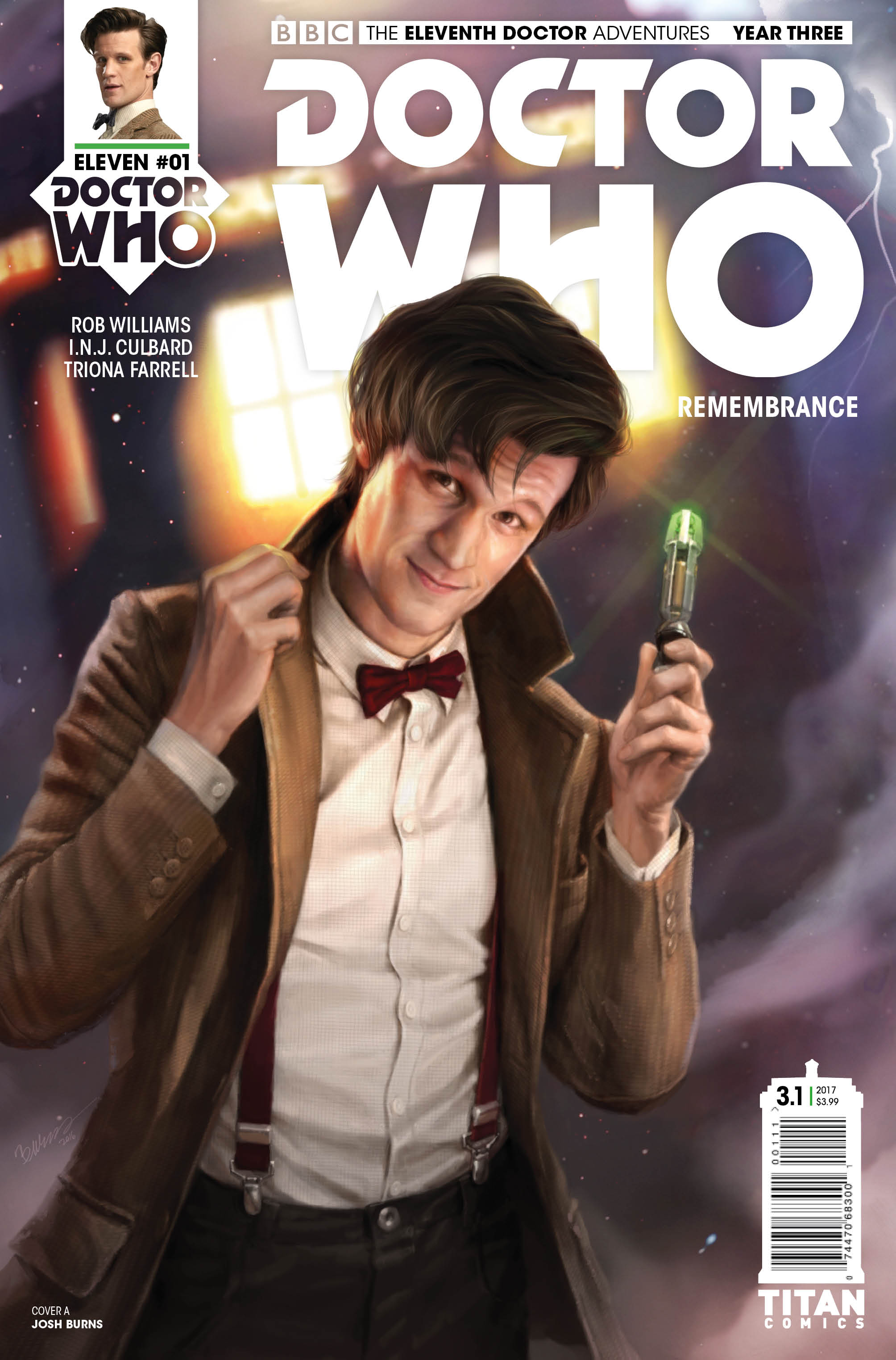 ELEVENTH DOCTOR YEAR THREE #1 Cover_A_Josh_Burns (Credit: Titan)