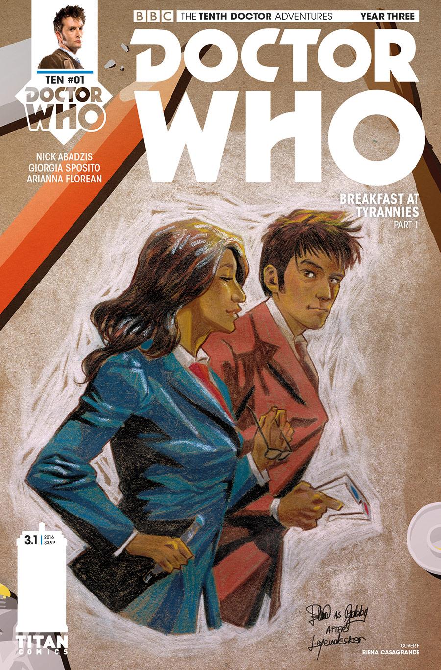 TENTH DOCTOR YEAR THREE #1 Cover_F_Elena_Casagrande (Credit: Titan)