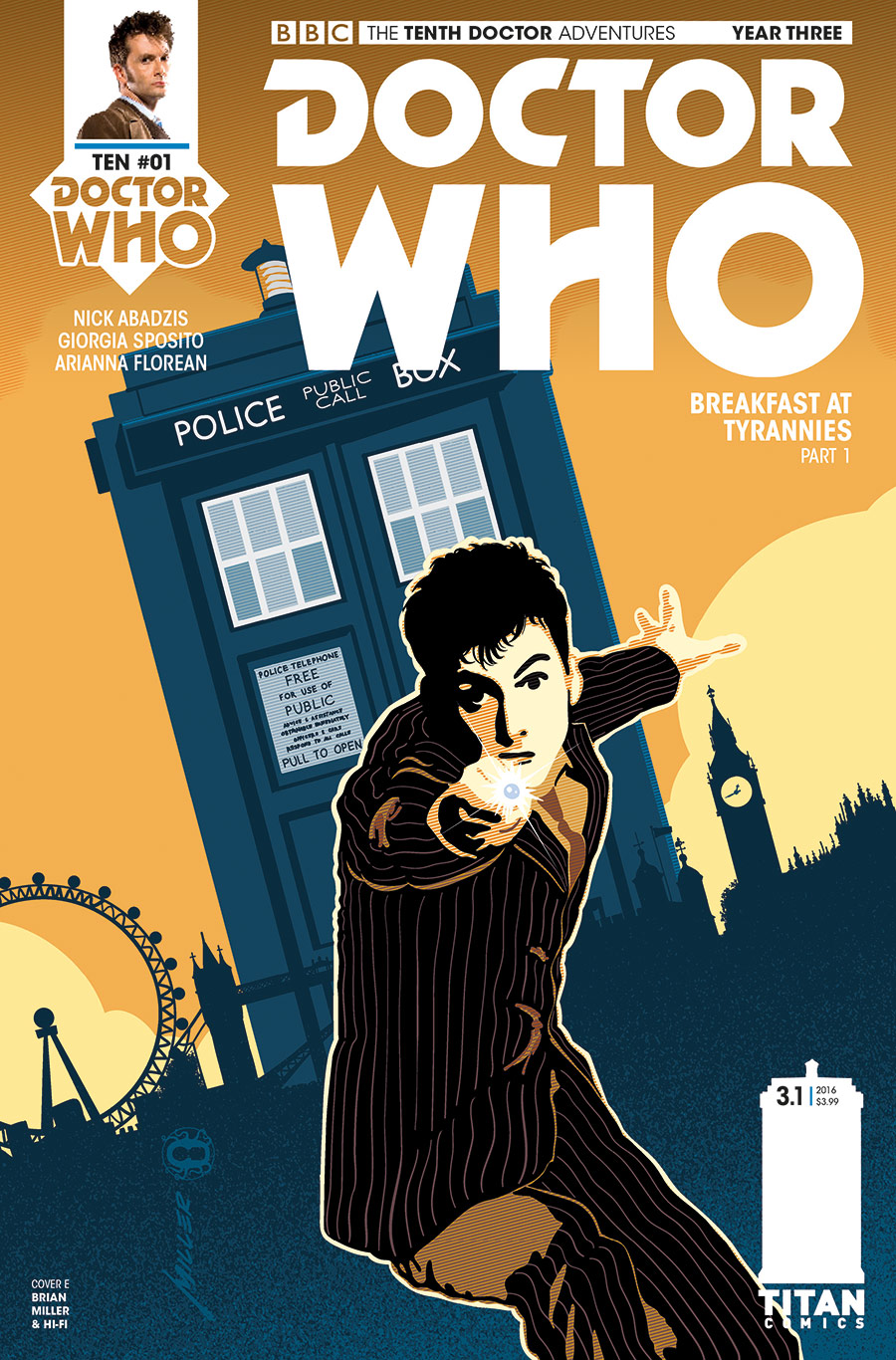TENTH DOCTOR YEAR THREE #1 Cover_E_Brian_Miller (Credit: Titan)