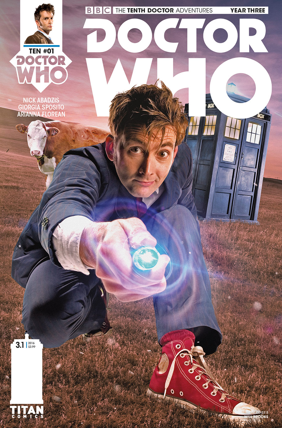 TENTH DOCTOR YEAR THREE #1 Cover_B_Will_Brooks (Credit: Titan)