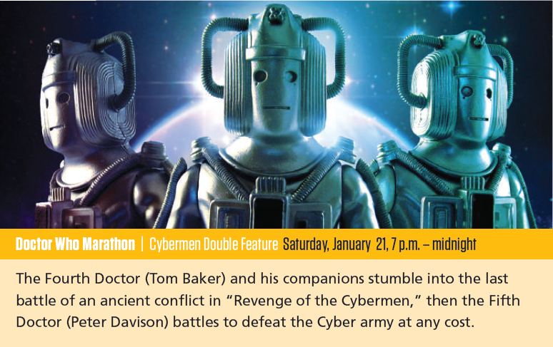KBTC: Cybermen Double Feature (21 Jan 2017) (Credit: KBTC Guide Jan 2017)