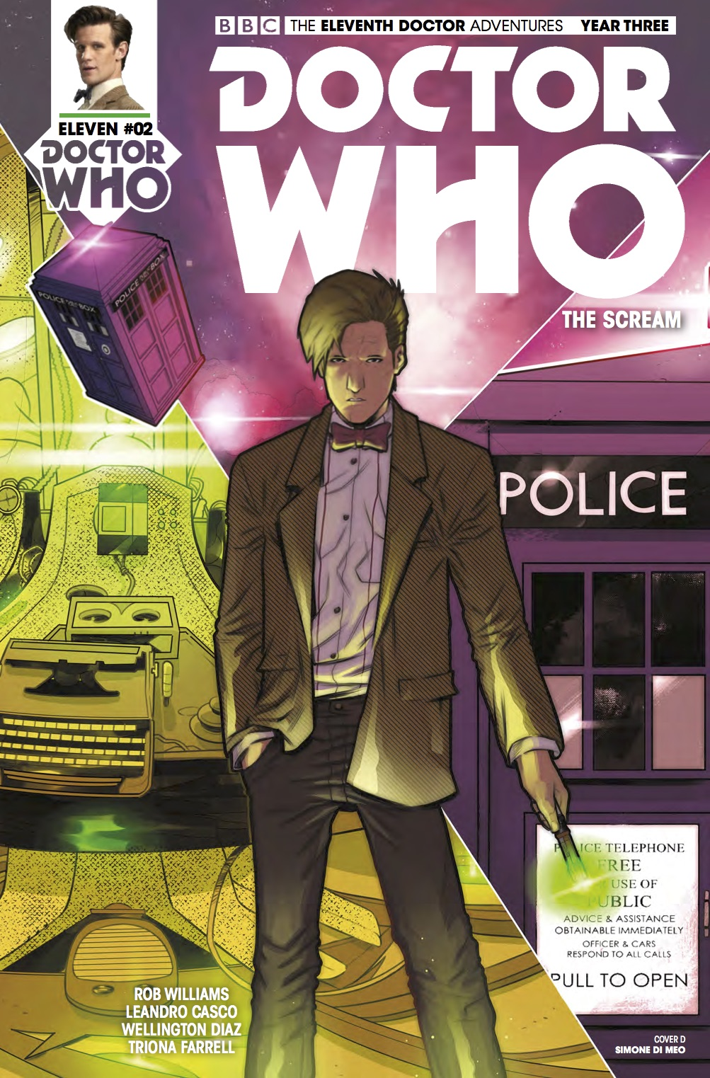 The Eleventh Doctor 3 2 Cover D (Credit: Titan /Simone di Meo )