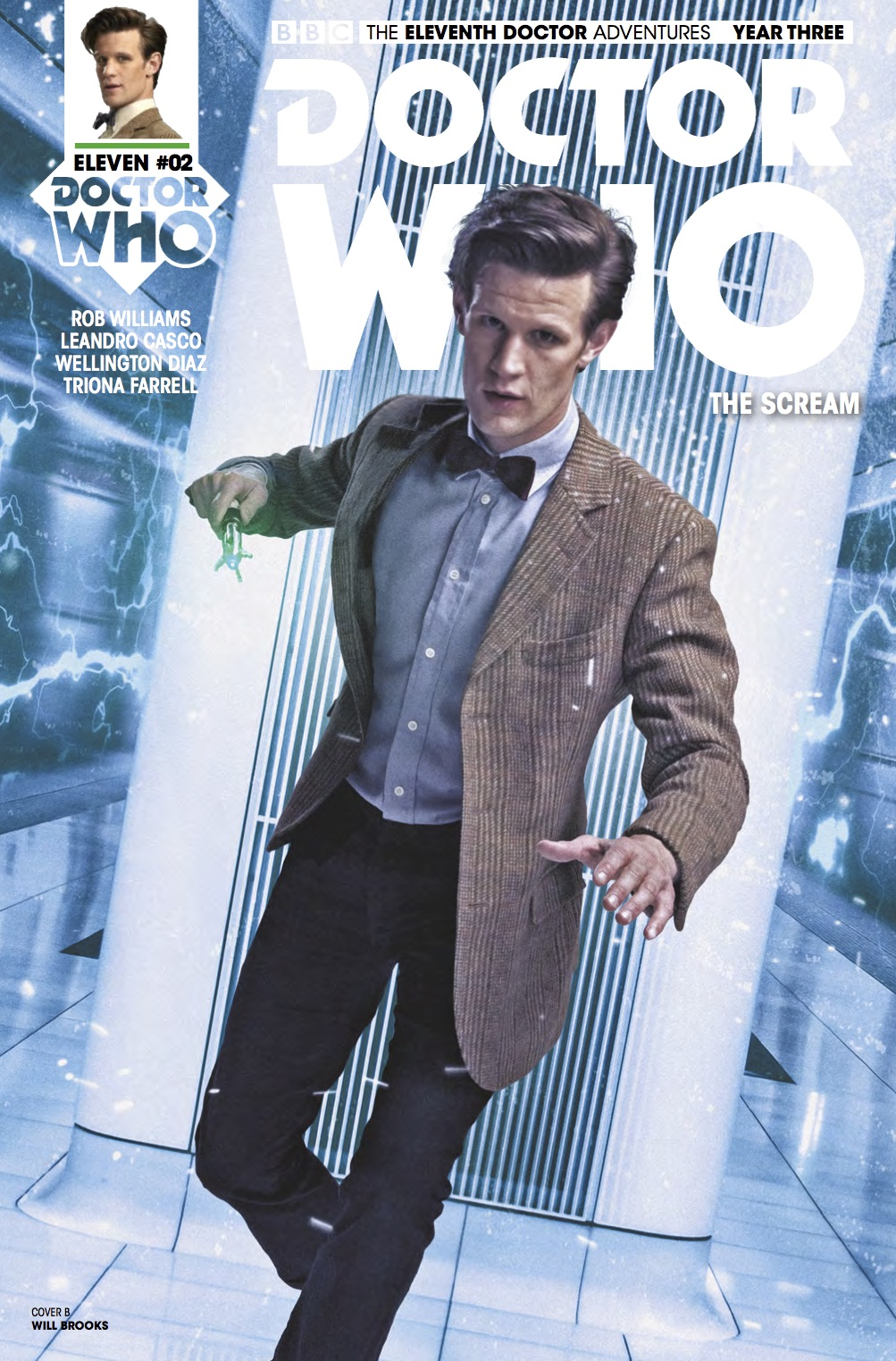 The Eleventh Doctor 3 2 Cover B (Credit: Titan / Will Brooks)