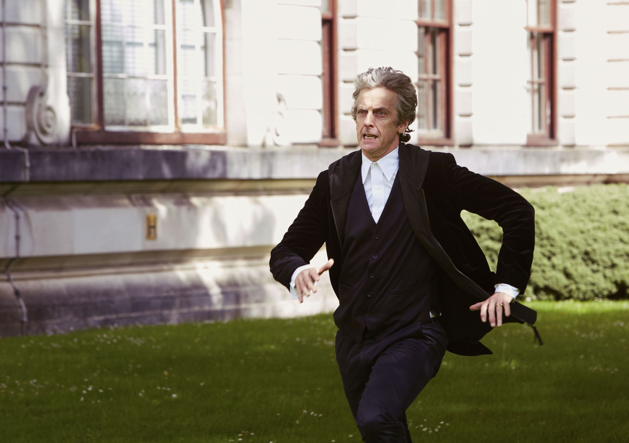 The Pilot - The Doctor (Peter Capaldi) (Credit: BBC/Simon Ridgway)