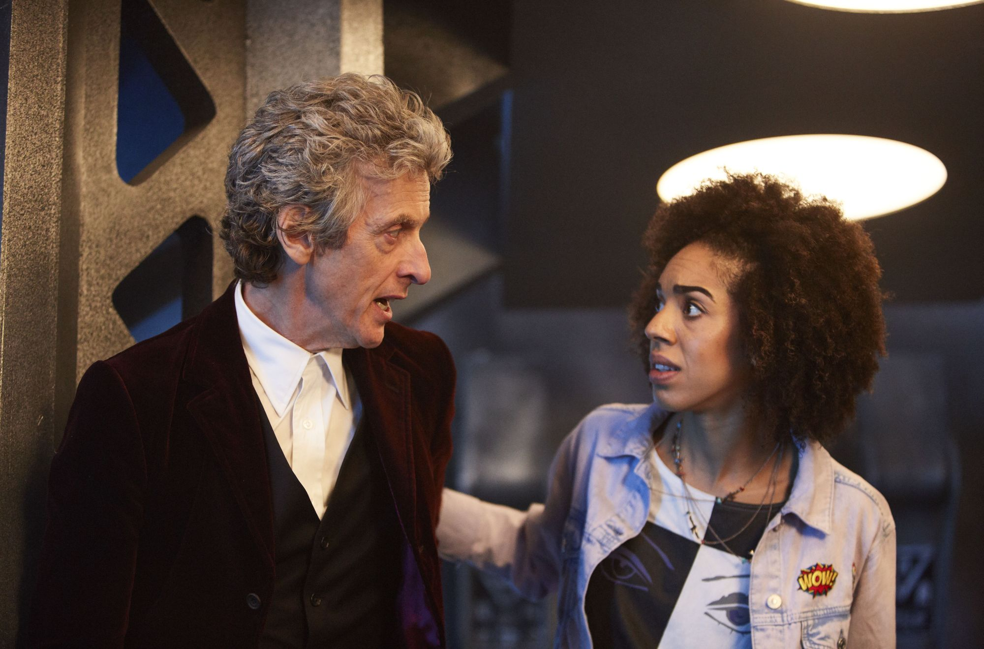 The Pilot - The Doctor (Peter Capaldi) and Bill (Pearl Mackie) (Credit: BBC/Simon Ridgway)