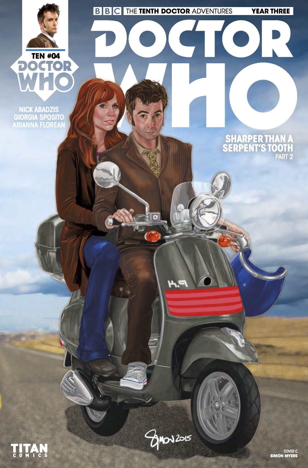 THE TENTH DOCTOR YEAR THREE #4 Cover C (Credit: Titan)