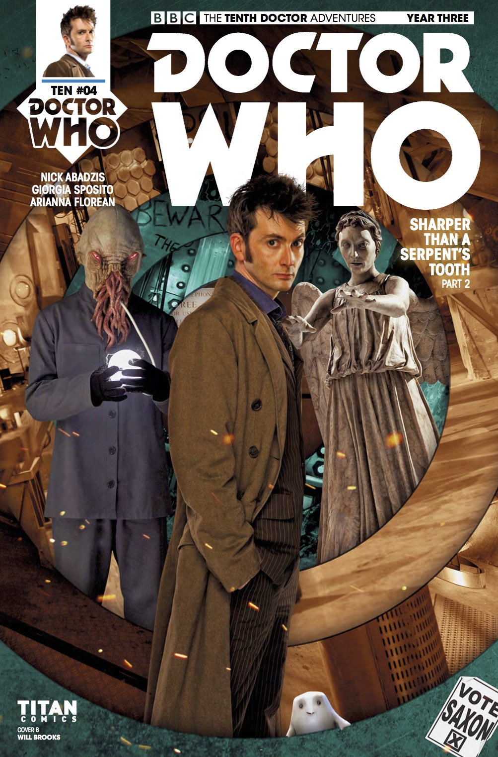 THE TENTH DOCTOR YEAR THREE #4 Cover B (Credit: Titan)
