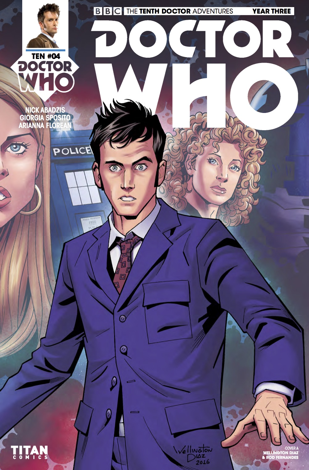 THE TENTH DOCTOR YEAR THREE #4 Cover A (Credit: Titan)