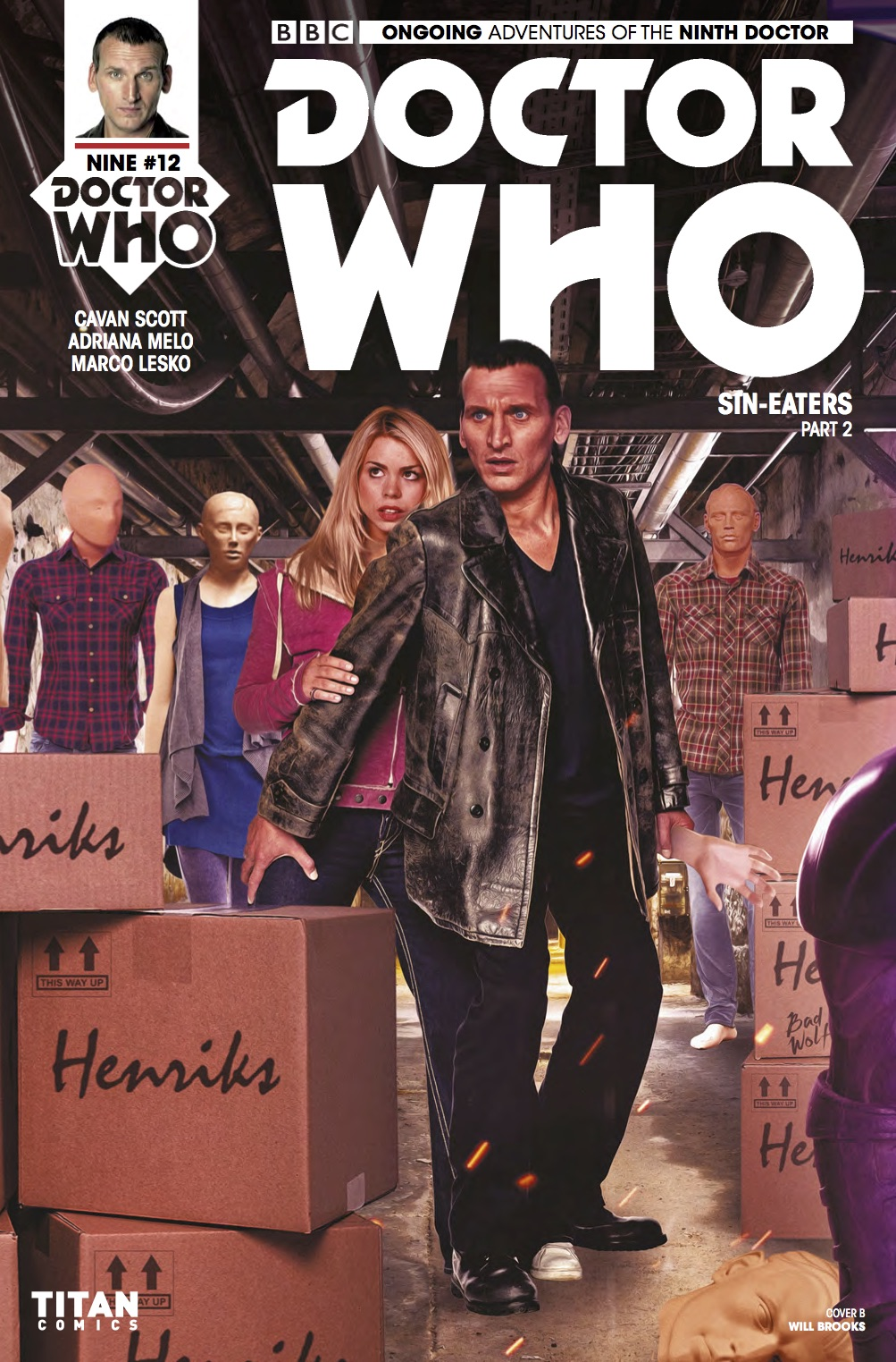 DOCTOR WHO: NINTH DOCTOR #12 Cover B (Credit: Titan WILL BROOKS)