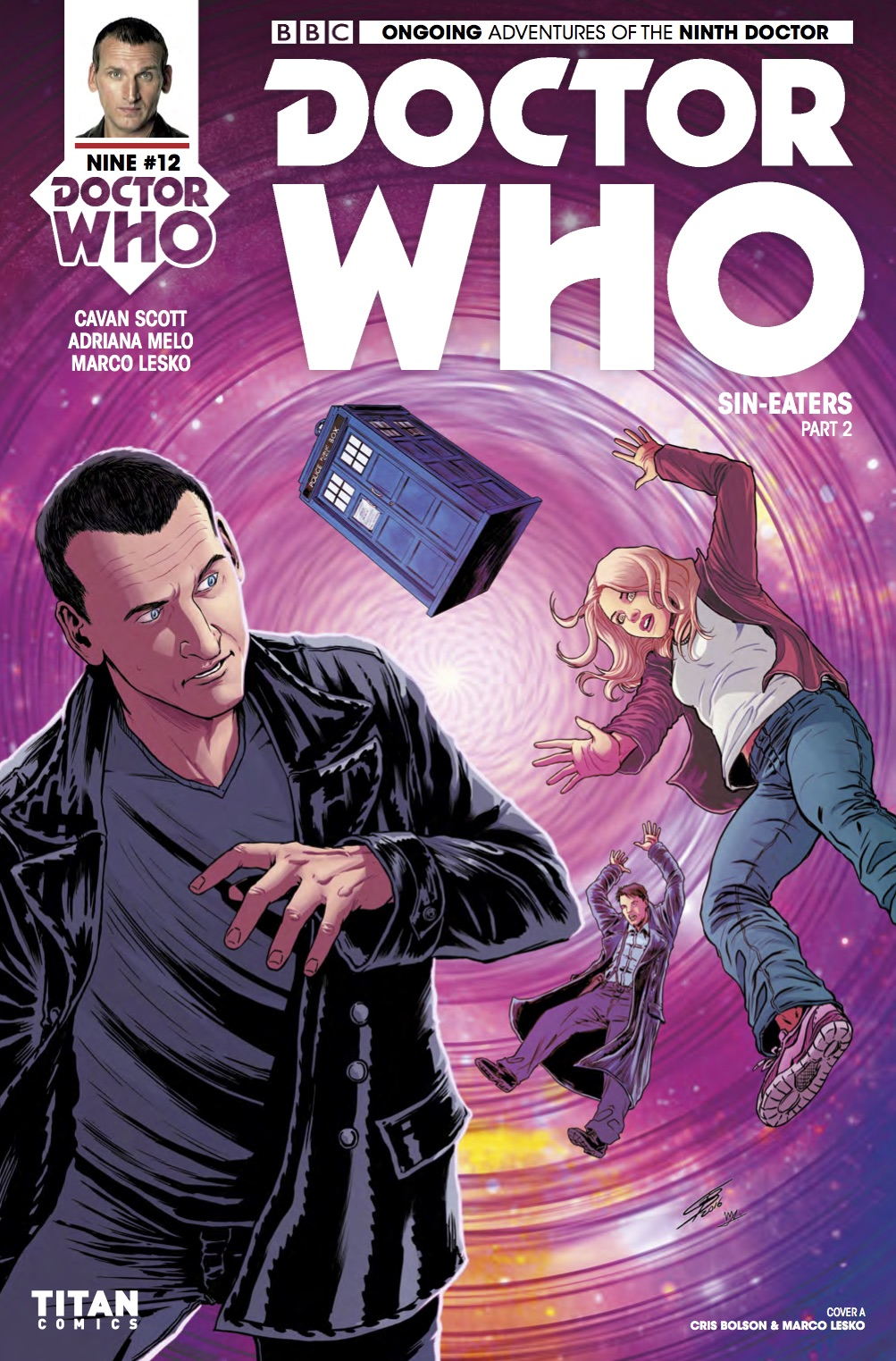 DOCTOR WHO: NINTH DOCTOR #12 Cover A (Credit: Titan CRIS BOLSON & MARCO LESKO)