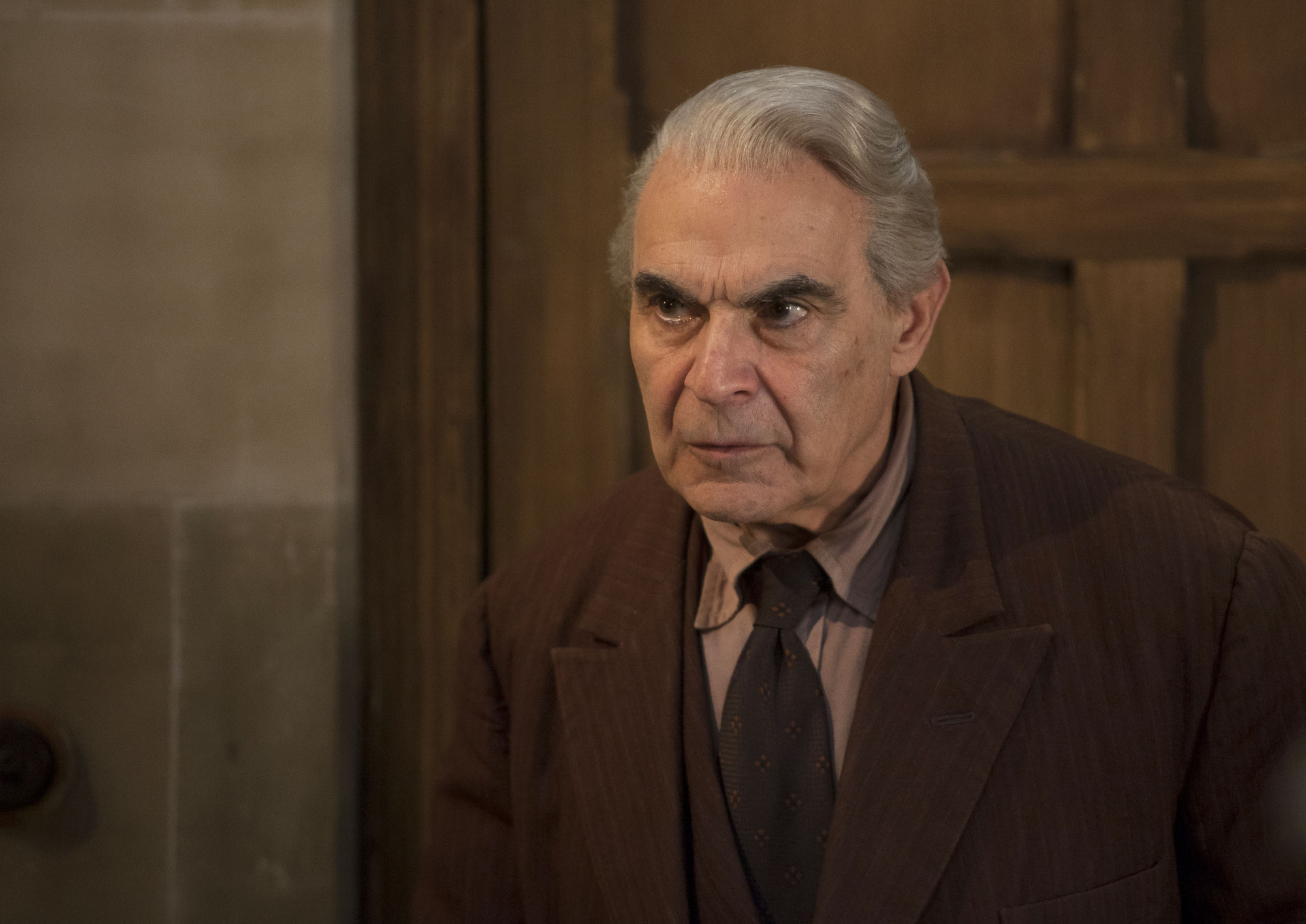 Knock Knock The Landlord (DAVID SUCHET) (Credit: BBC/BBC Worldwide (Jon Hall))