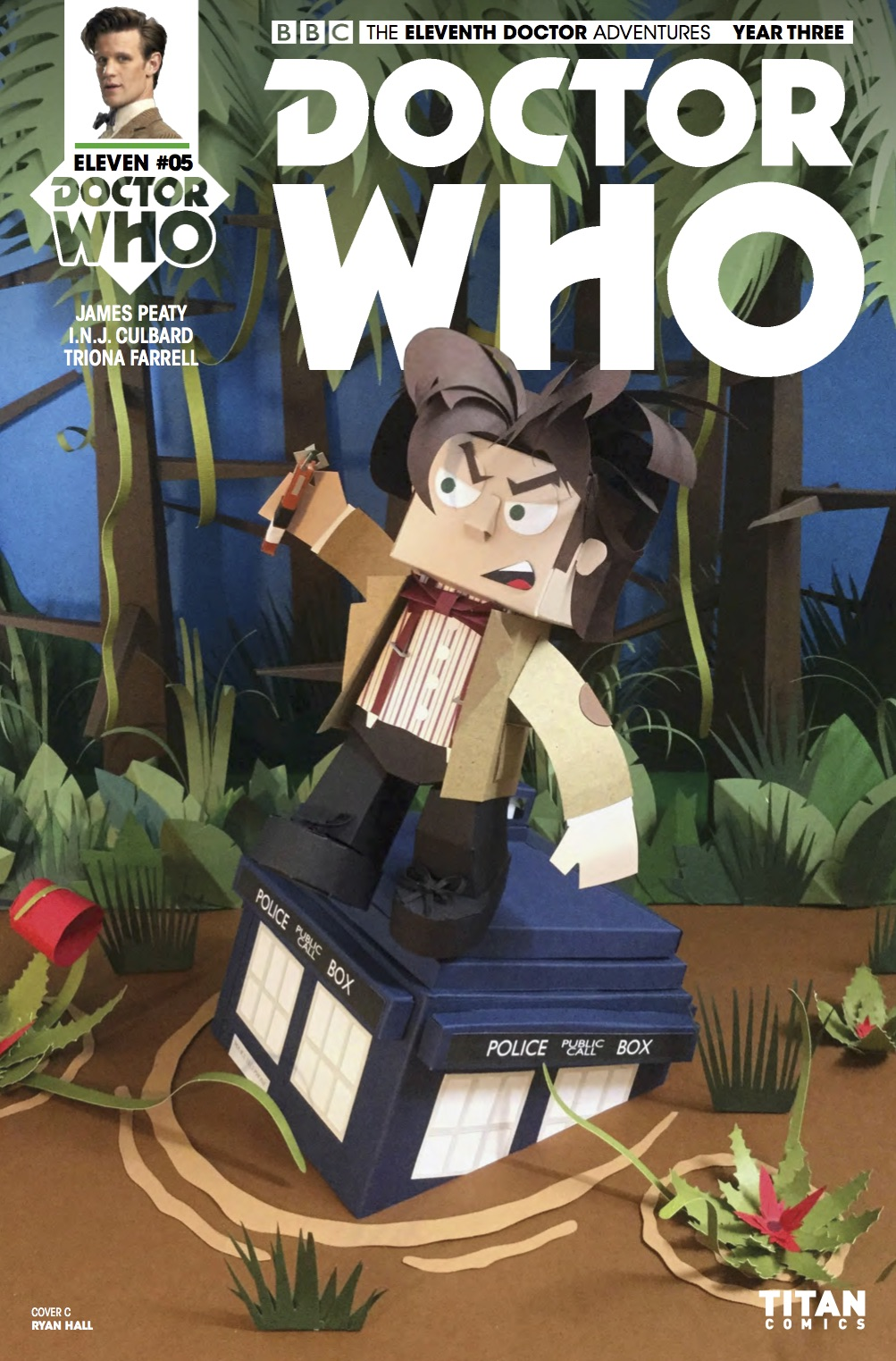 Eleventh Doctor 3_5 Cover C (Credit: Titan / Ryan Hall)