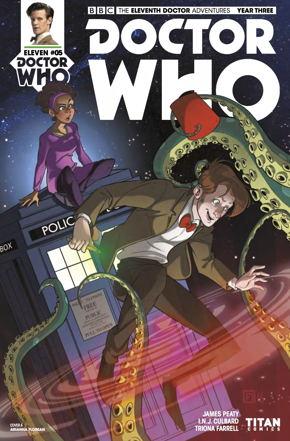 Eleventh Doctor 3_5 Cover A (Credit: Titan / Arianna Florean)