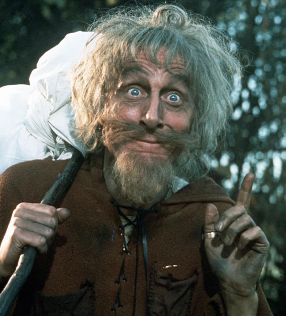 Geoffrey Bayldon as Catweazle (Credit: LWT)