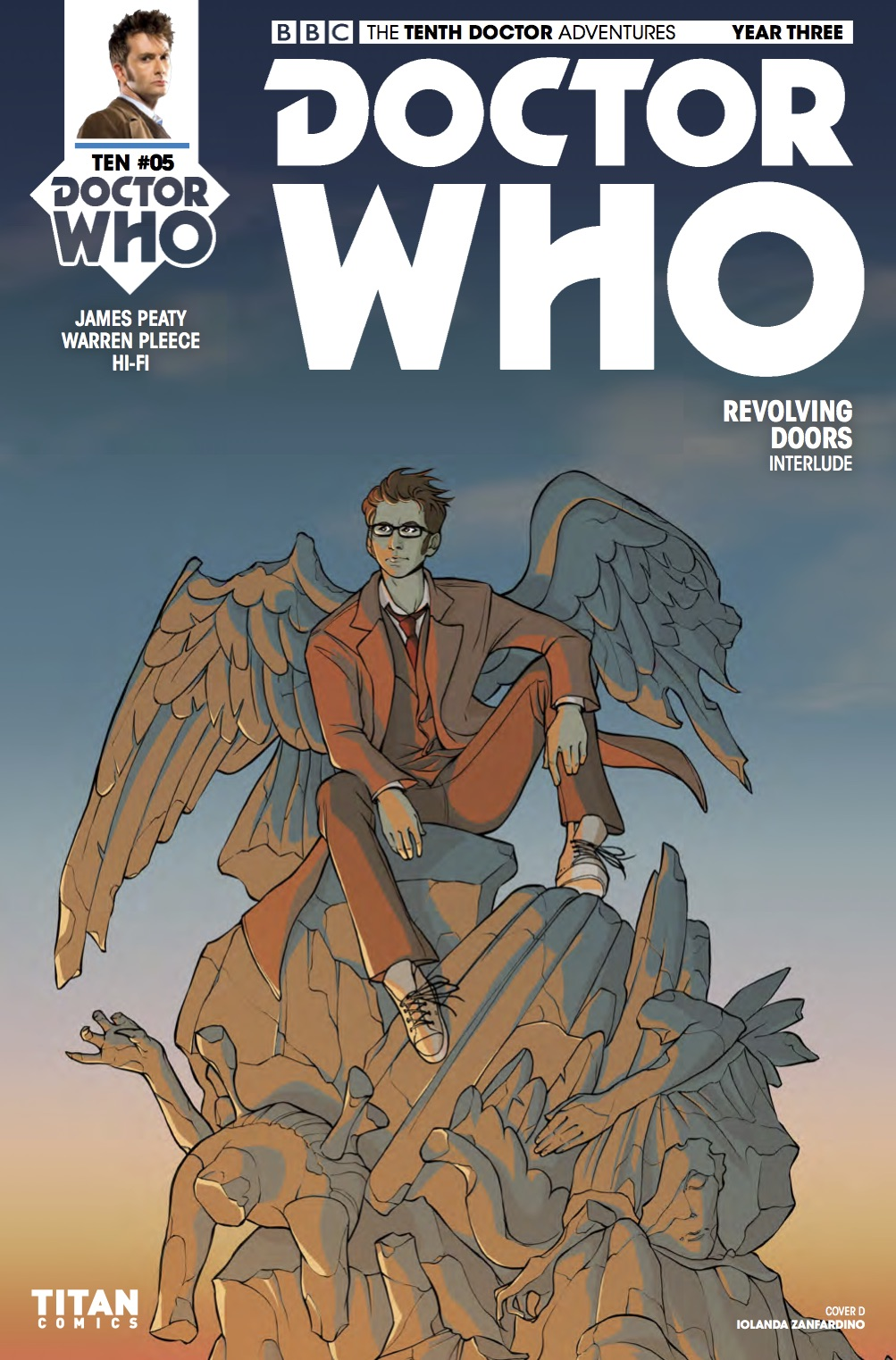 TENTH_DOCTOR 3.5 Cover D (Credit: Titan / Iolanda Zanfardino)