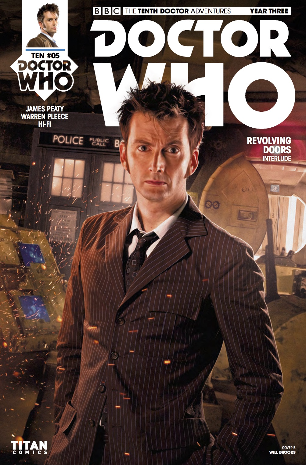 TENTH_DOCTOR 3.5 Cover B (Credit: Titan / Will Brooks)
