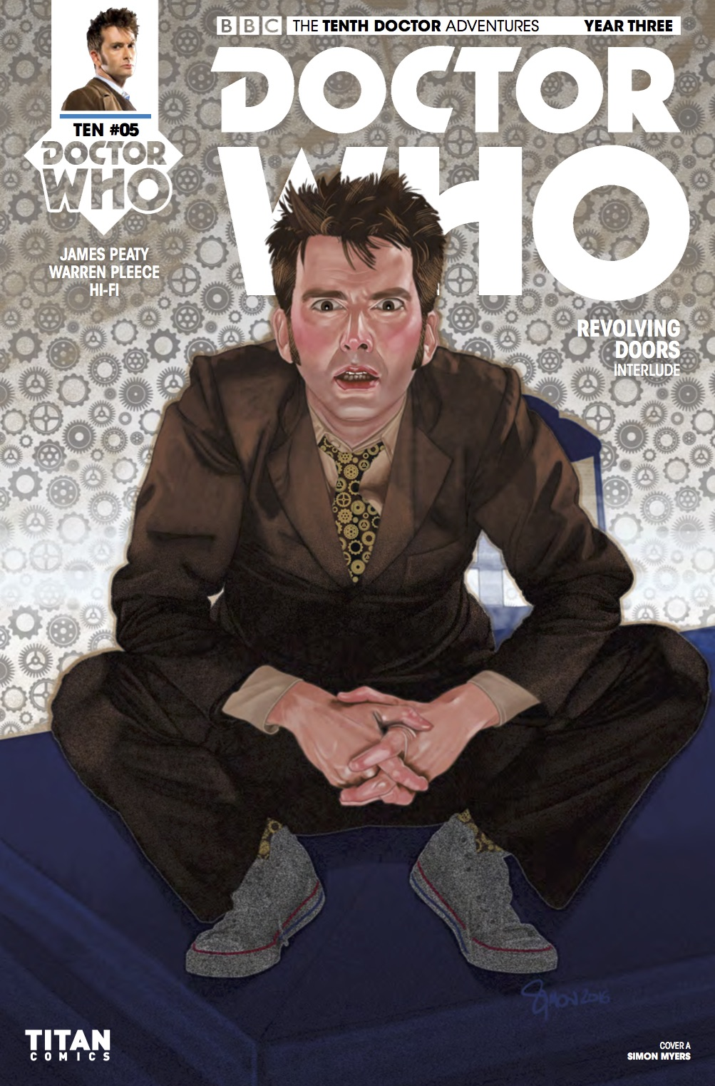 TENTH_DOCTOR 3.5 Cover A (Credit: Titan / Simon Myers)