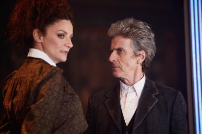The Lie Of The Land: Missy (Michelle Gomez), The Doctor (Peter Capaldi) (Credit: BBC/BBC Worldwide (Simon Ridgway))
