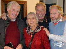 Who Talk: The Green Death (Richard Franklin, Mitzi MciKenzie, John Levene and Toby Hadoke) (Credit: Fantom Audio)