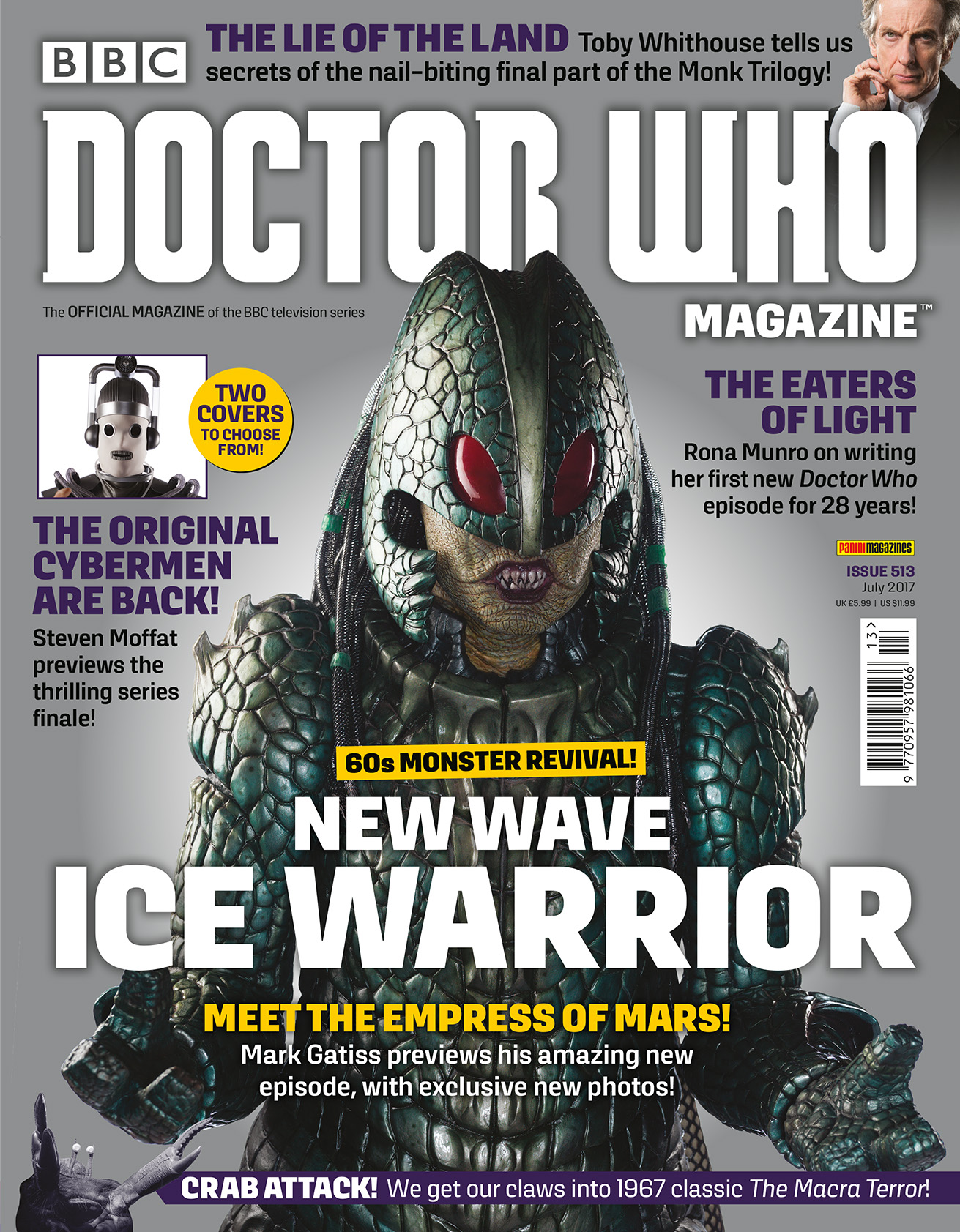 Doctor Who Magezine 513 (Ice Warrior variant) (Credit: DWM)