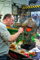 Mike Tucker of the Model Unit working on the Ice Warrior (Credit: Toy Box Treasures)