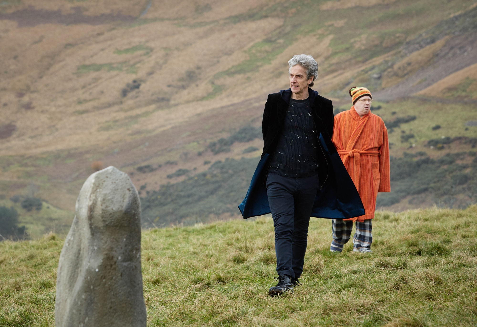 The Eaters of Light: The Doctor (Peter Capaldi), Nardole (Matt Lucas) (Credit: BBC/BBC Worldwide (Simon Ridgway))