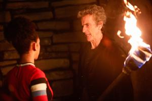 The Eaters of Light: Bill (Pearl Mackie), The Doctor (Peter Capaldi) (Credit: BBC/BBC Worldwide (Simon Ridgway))