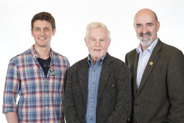 Scott Handcock, Derek Jacobi, Nicholas Briggs (Credit: Big Finish)