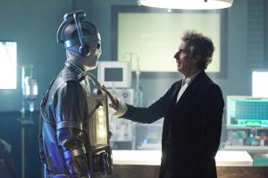 World Enough and Time: Mondasian Cyberman, The Doctor (Peter Capaldi) (Credit: BBC/BBC Worldwide (Simon Ridgway))