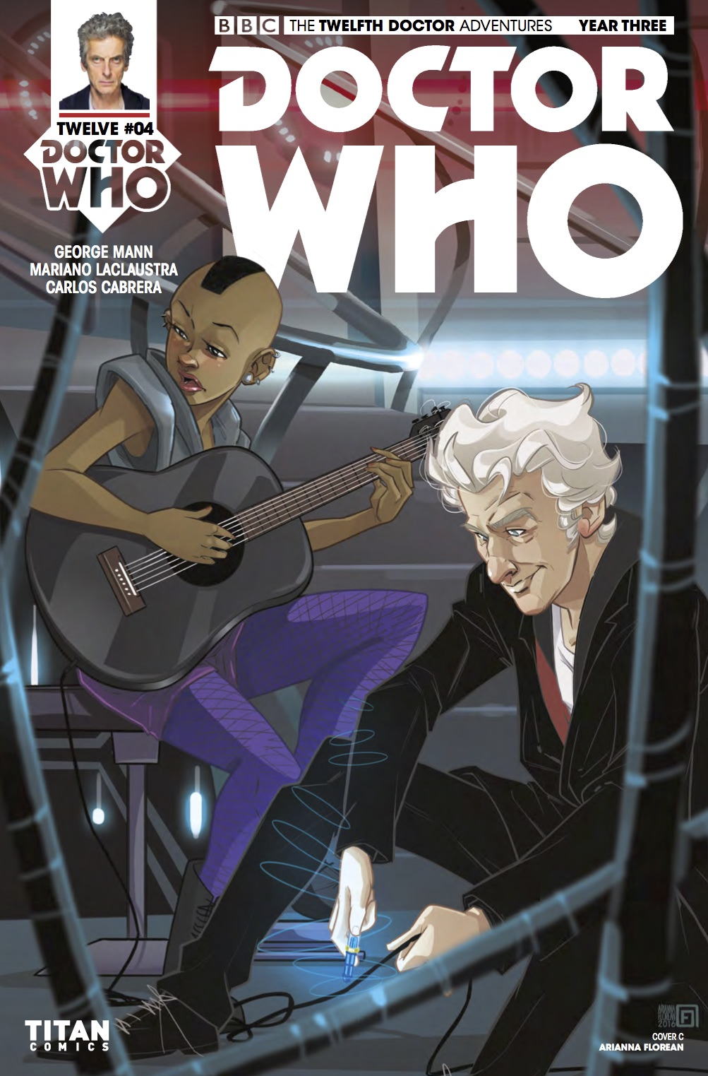 Doctor Who: Twelfth Doctor Year 3 #4​ - Cover C (Credit: Titan / Adrianna Florian )