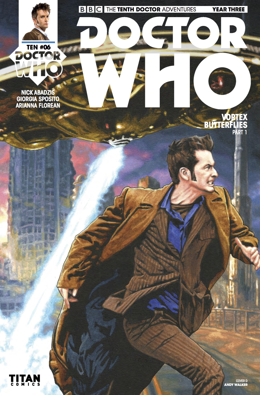 D​octor Who: The Tenth Doctor Year 3 #6​ Cover D (Credit: Titan / Andy Walker)