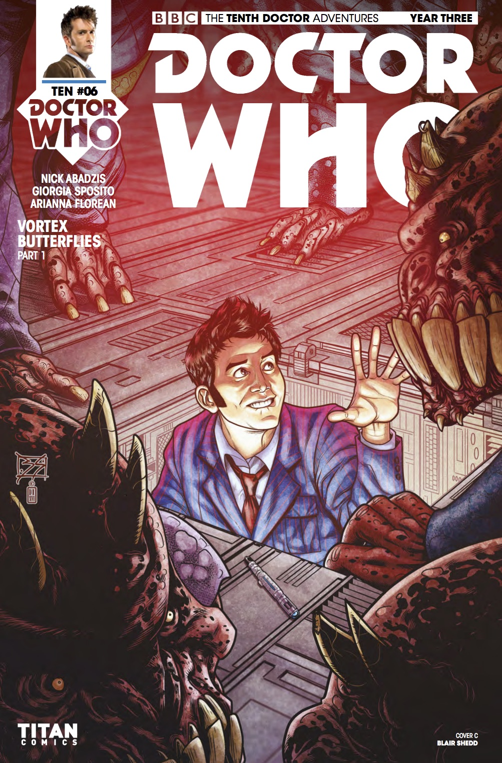 D​octor Who: The Tenth Doctor Year 3 #6​ Cover C (Credit: Titan / Blair Shedd)