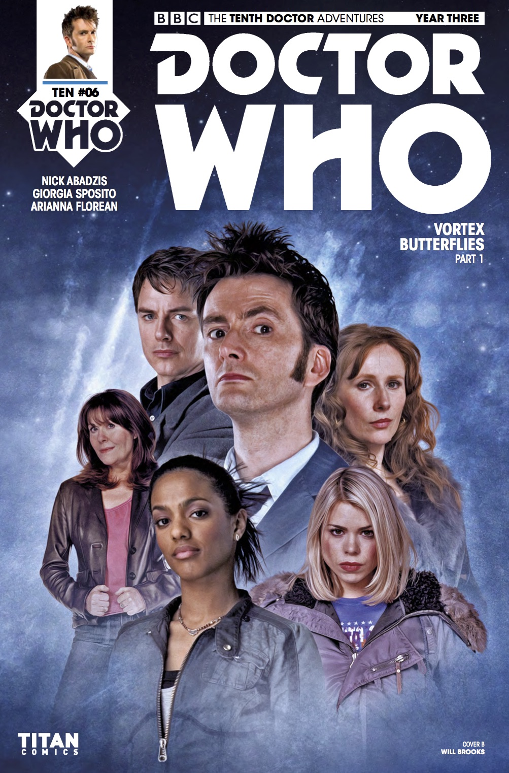 D​octor Who: The Tenth Doctor Year 3 #6​ Cover B (Credit: Titan / Will Brooks)